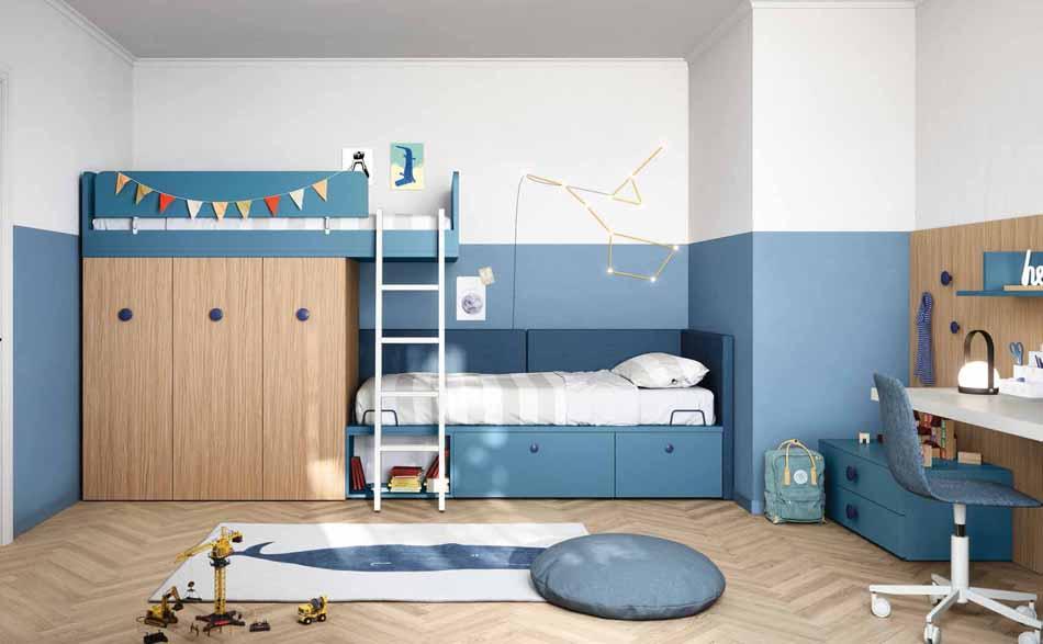 Battistella Camerette – 3163 Kids Soppalco – Benefit Arredo Moderno