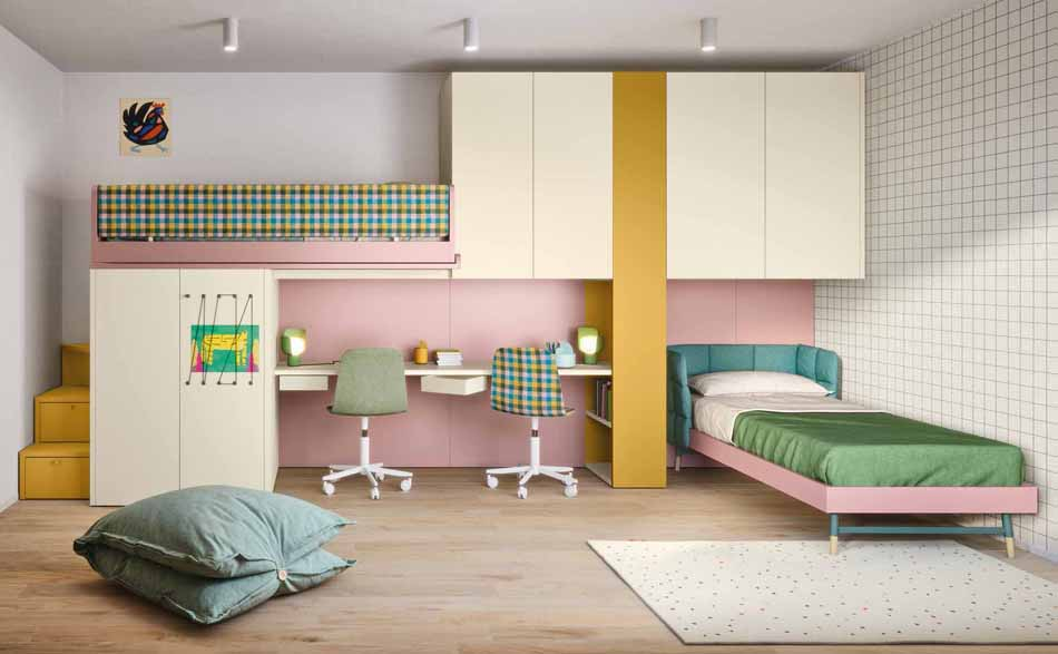 Battistella Camerette – 3171 Kids Soppalco – Benefit Arredo Moderno