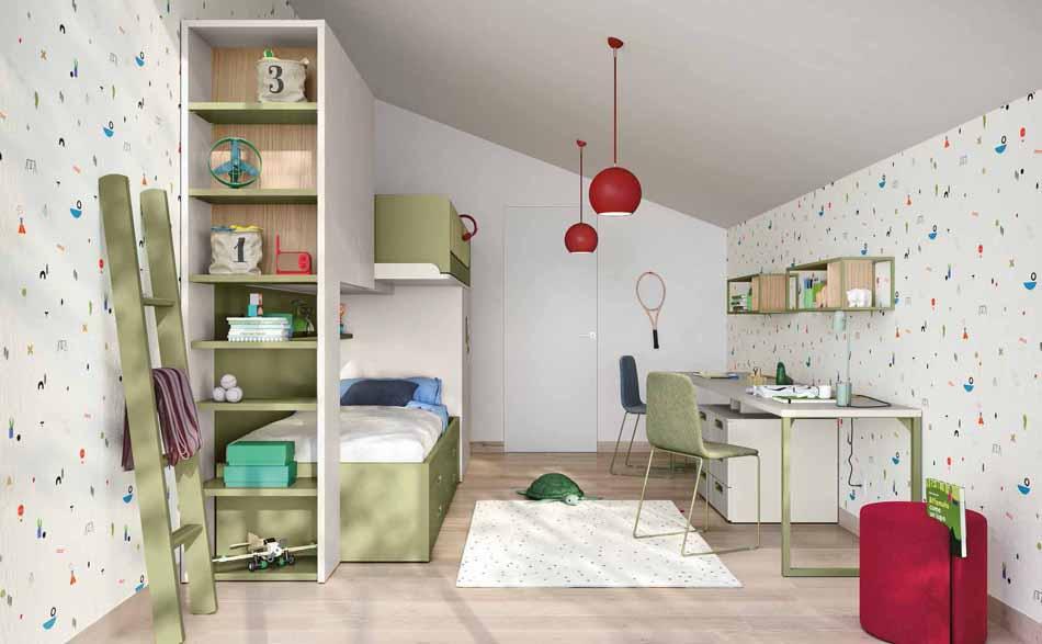 Battistella Camerette – 3178 Kids Soppalco – Benefit Arredo Moderno