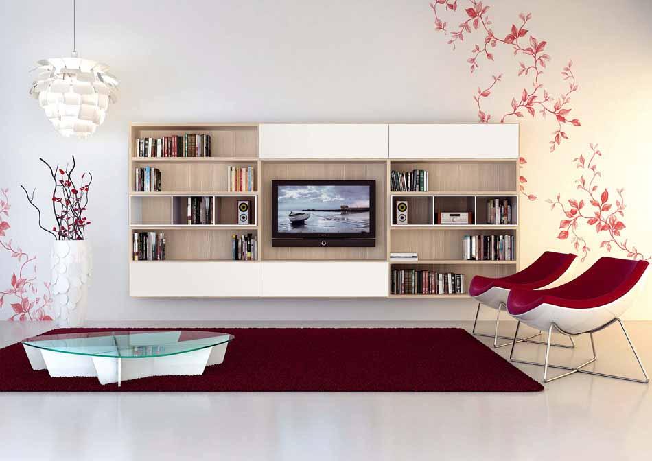 Cinquanta2870 – 04 Zona Giorno Librerie – Benefit Arredo Moderno