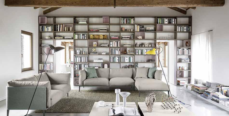Novamobili 2281 Living Libreria – Benefit Arredo Moderno