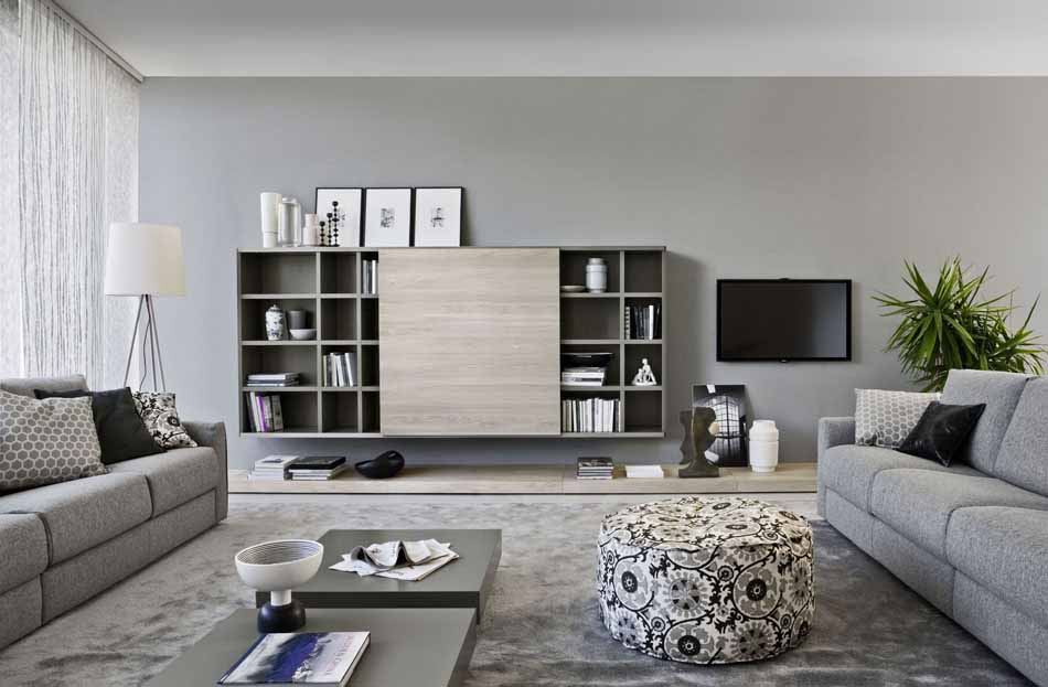 Novamobili 2284 Living Libreria – Benefit Arredo Moderno