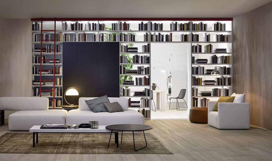 Novamobili 2287 Living Libreria – Benefit Arredo Moderno
