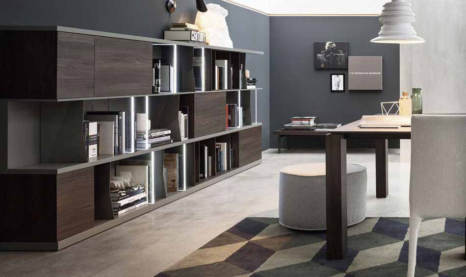 Novamobili 2293 Living Libreria – Benefit Arredo Moderno