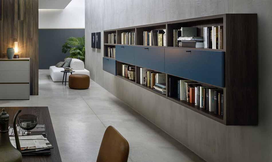 Novamobili 2296 Living Libreria – Benefit Arredo Moderno
