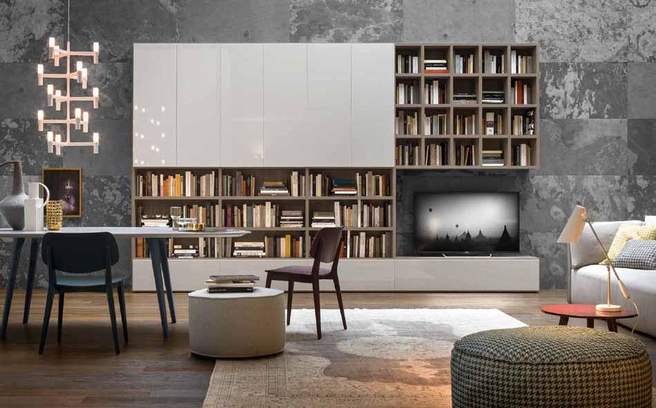 Novamobili 2305 Living Libreria – Benefit Arredo Moderno