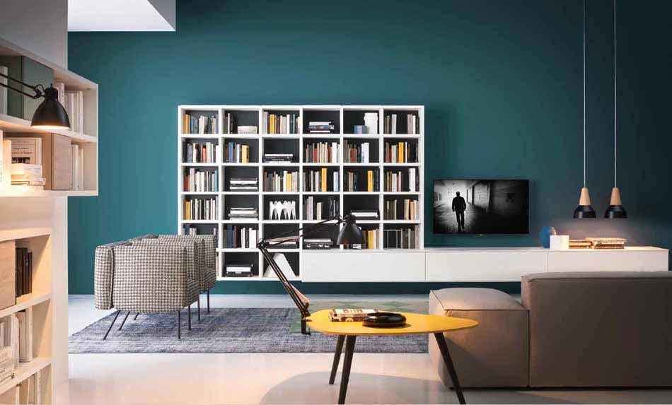 Novamobili 2308 Living Libreria – Benefit Arredo Moderno