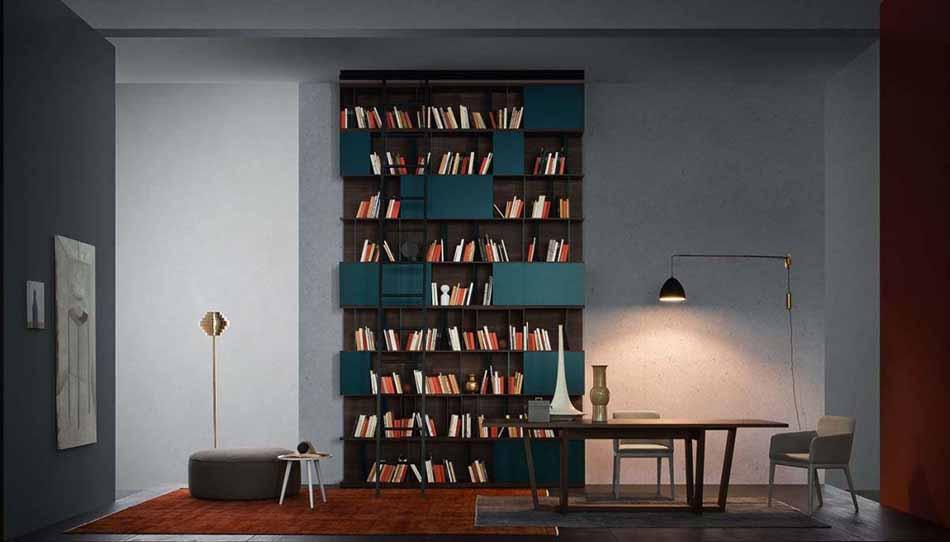 Novamobili 2311 Living Libreria – Benefit Arredo Moderno