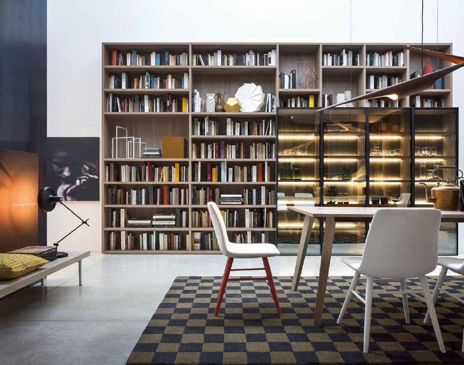 Novamobili 2314 Living Libreria – Benefit Arredo Moderno