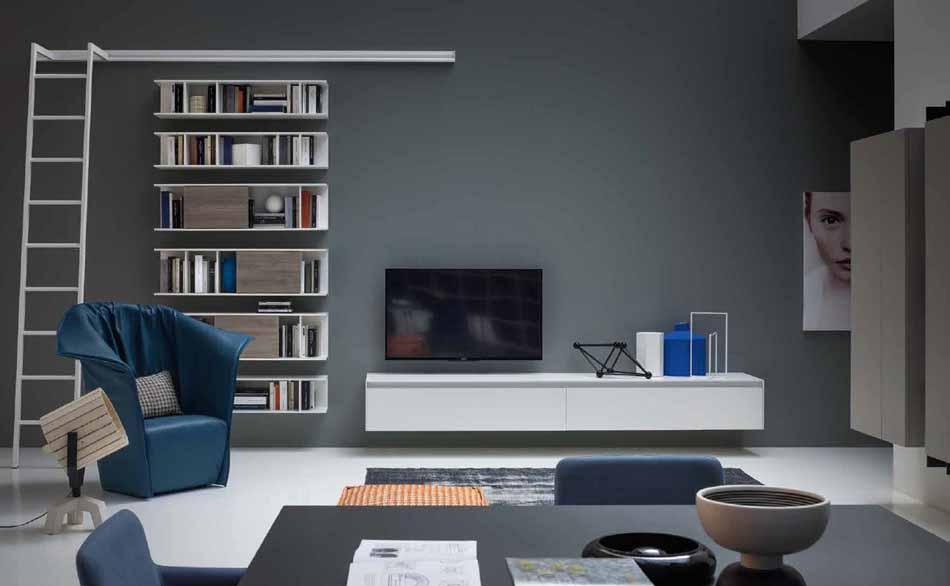 Novamobili 2317 Living Libreria – Benefit Arredo Moderno
