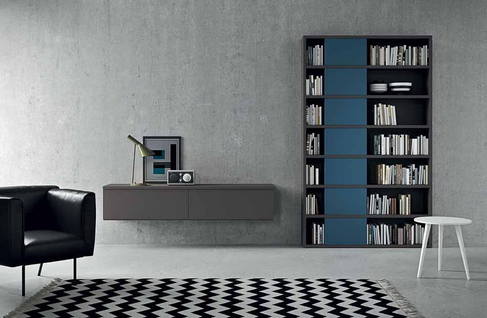 Novamobili 2323 Living Libreria – Benefit Arredo Moderno